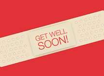Band-Aid Statement Get Well Card